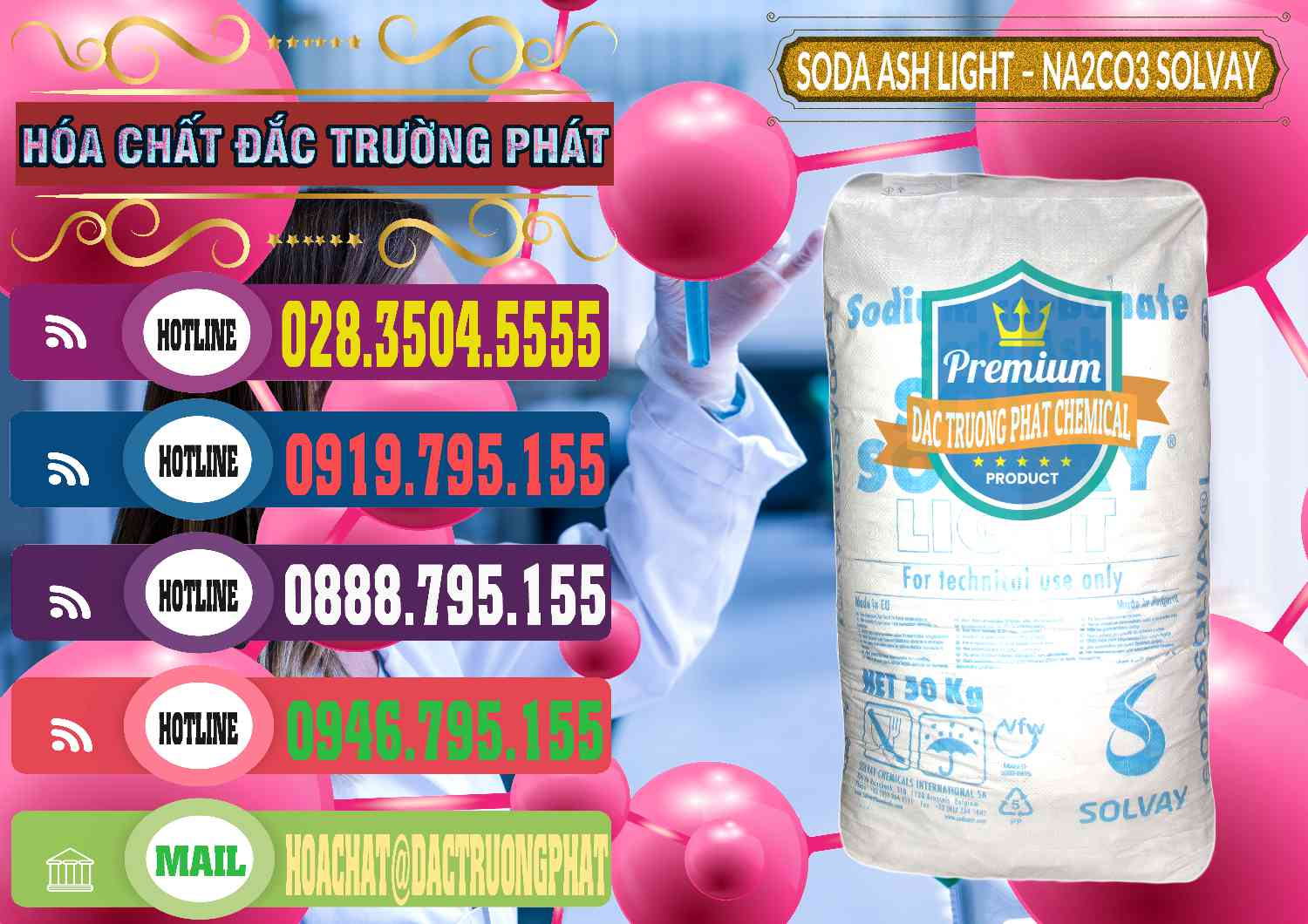 Công ty chuyên bán ( cung ứng ) Soda Ash Light - NA2CO3 Solvay Bulgaria – 0138 - Đơn vị cung cấp - bán hóa chất tại TP.HCM